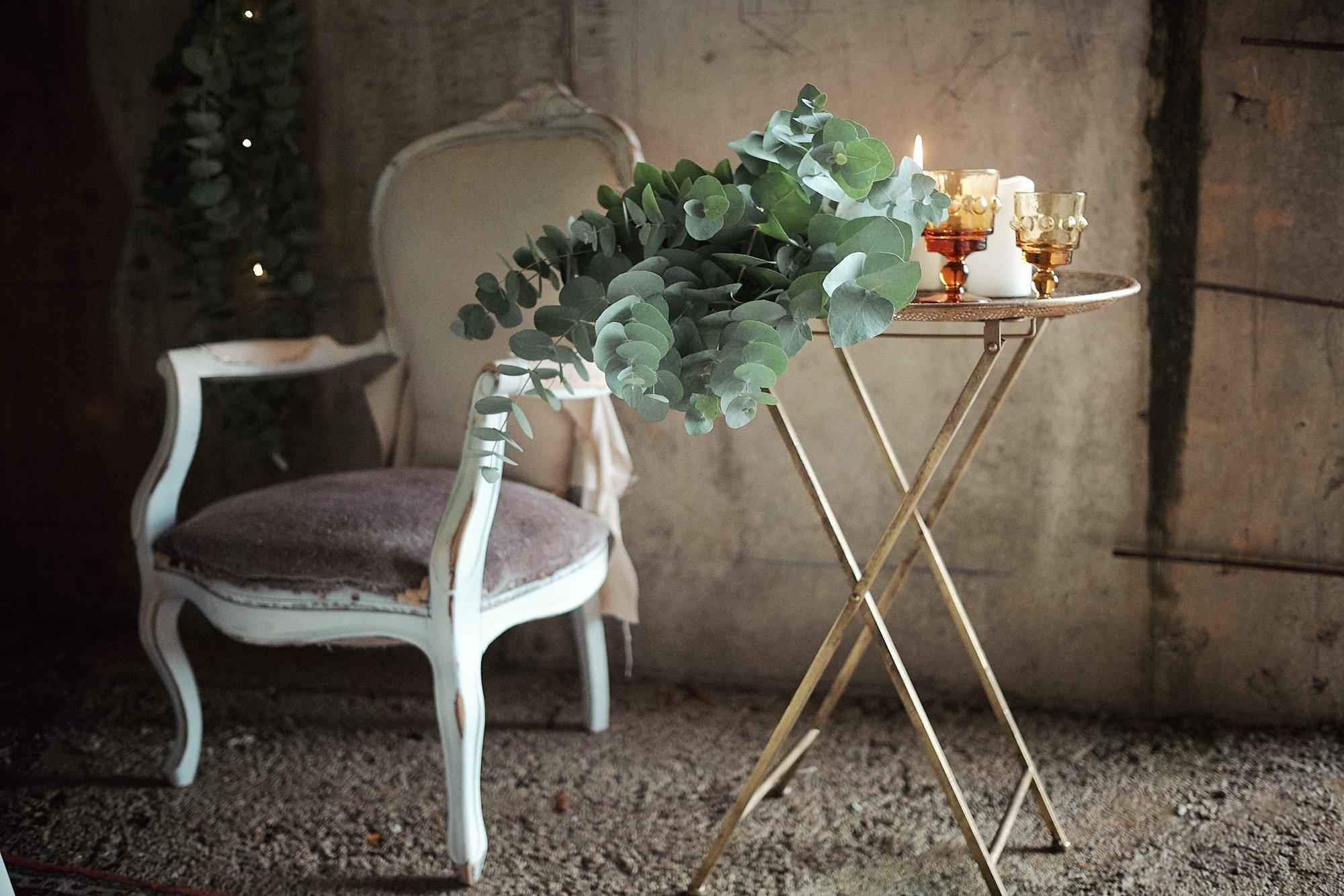 sillon con ramo de novia
