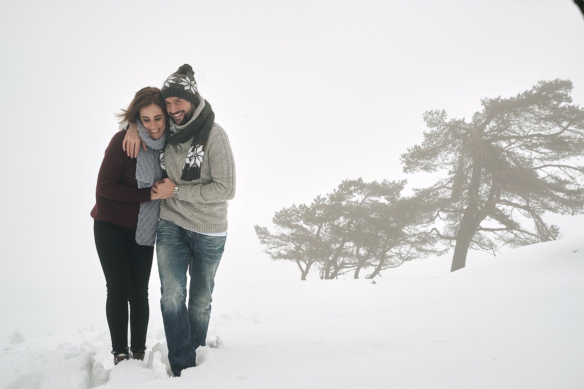 Pre boda en la nieve
