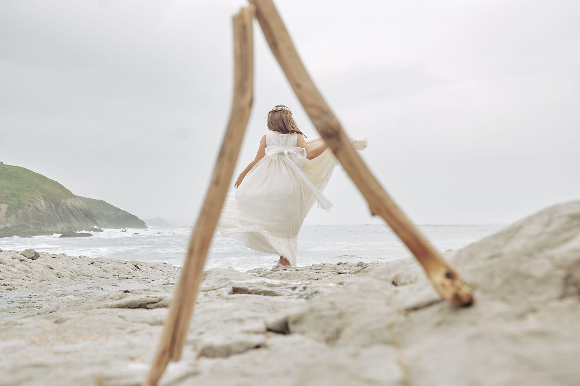 Reportaje de comunion en la playa Cantabria